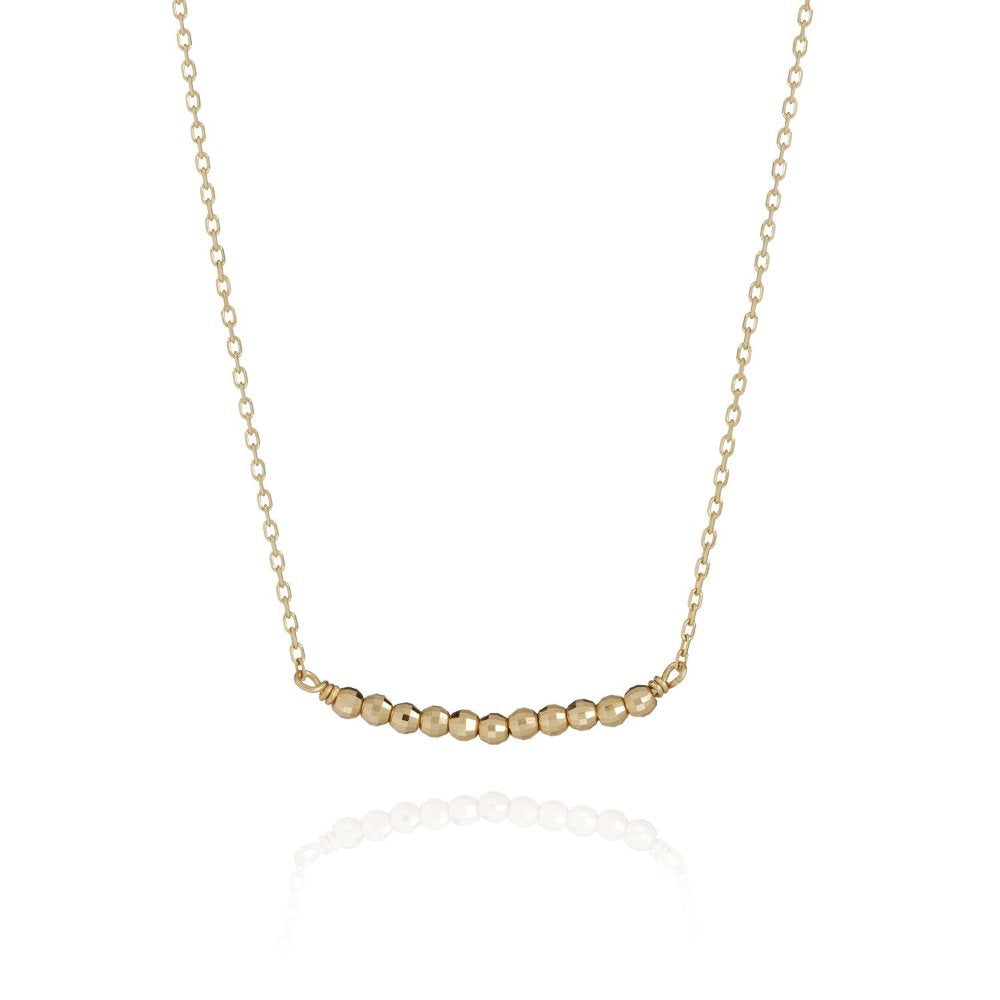 Perle de Lune Disco Beads Necklace | 18K Yellow Gold