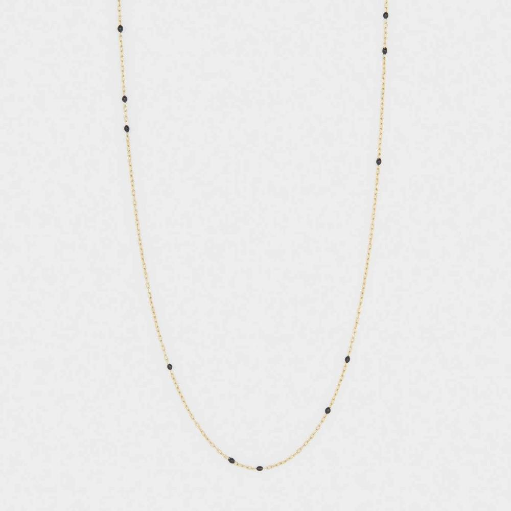 Gorjana Capri Black and 18k Yellow Gold Plated Dainty Necklace