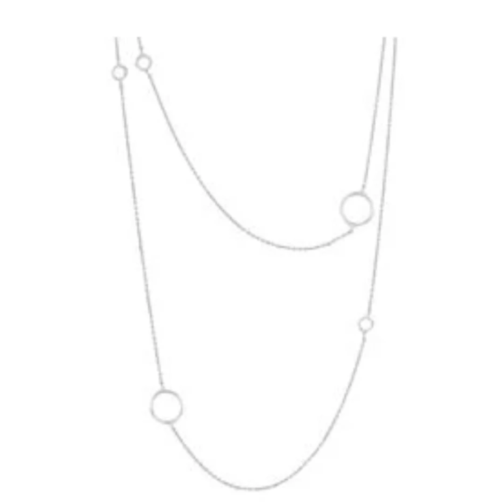 Gorjana Silver Quinn Delicate Necklace | 18K Silver Brass | Long Necklace