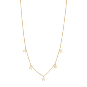 Gorjana Super Star Flutter Necklace | 18K Gold Plate | Star Necklace