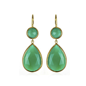 Margaret Elizabeth Green Onyx Earrings