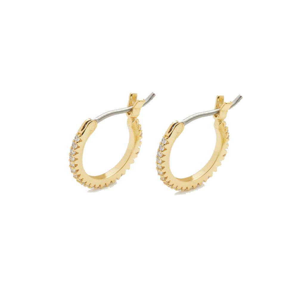Gorjana Shimmer Huggie Earrings | 18K Gold Plate
