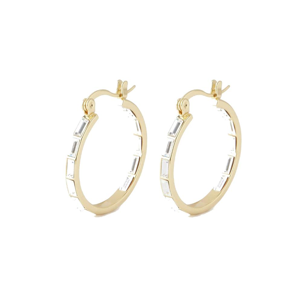Gorjana Desi Hoop Earrings | 18K Gold Plate | Crystal | Earrings