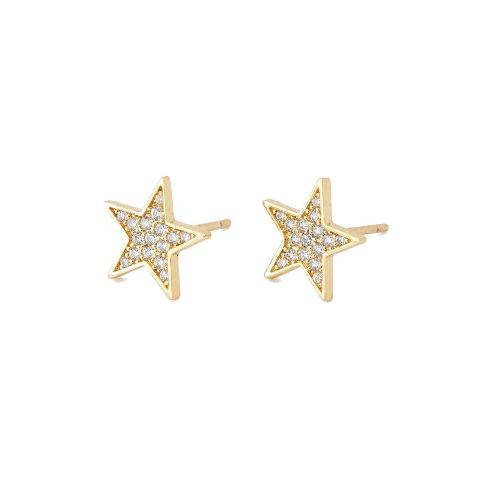 Gorjana Super Star Shimmer Studs | 18K Gold Plate |  Cubic zirconia | Earrings