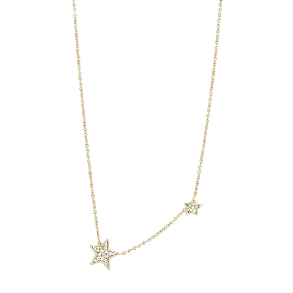 Gorjana Super Star Shimmer Necklace | 18K Gold Plate | Cubic zirconia | Necklace | Star