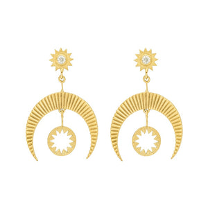 Zoe and Morgan Gold Plate Hatha Earrings