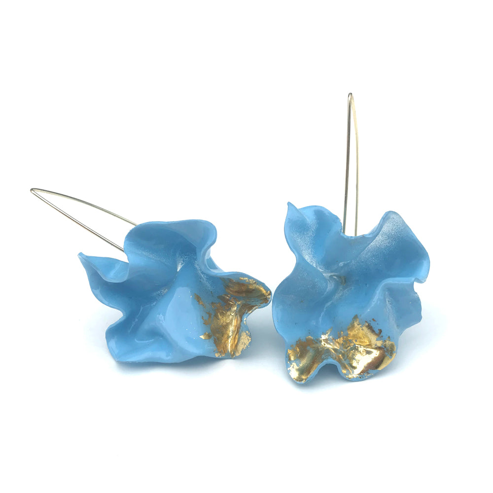 WINK LARGE BLUE COLOUR THERAPY EARRINGS