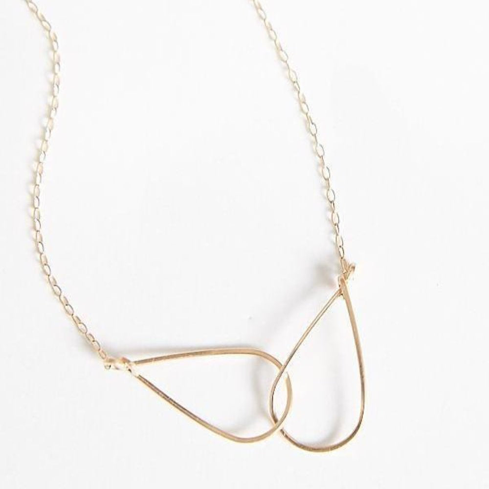 BY BOE INTERLINKING TEARDROP NECKLACE