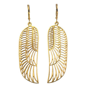 Zoe and Morgan Gold Plate Wing Earrings