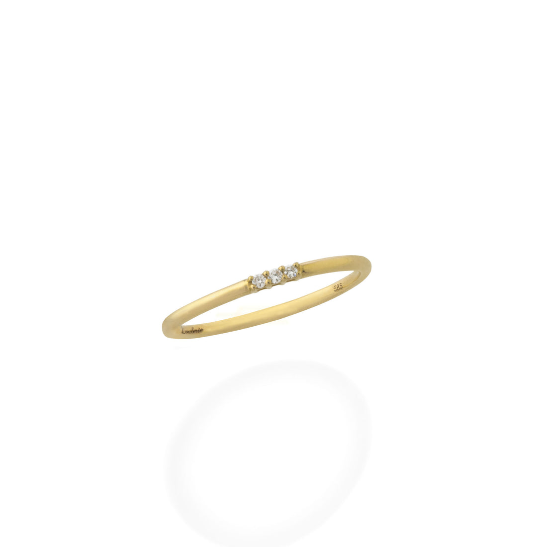 Loulerie 3 White Diamond 14k Yellow Gold Ring