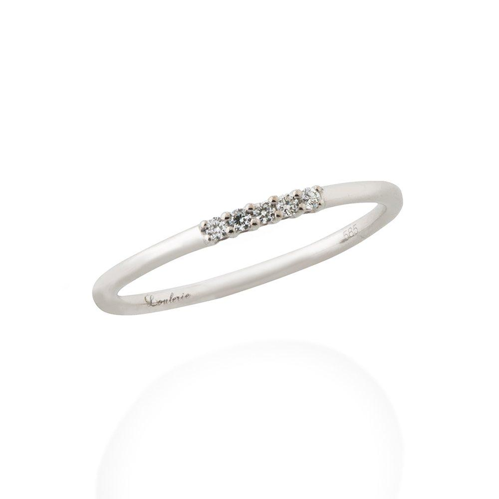 Loulerie Five Diamond White Gold Ring