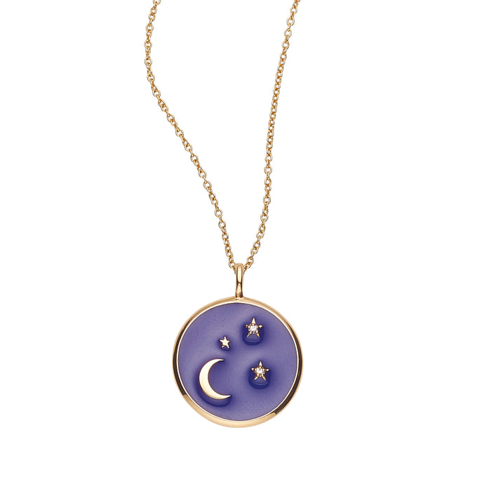 LOULERIE NAVY DIAMOND CELESTIAL NECKLACE