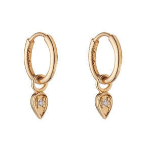 LOULERIE DIAMOND TEARDROP EARRINGS