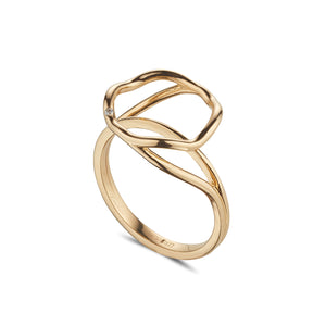 LOULERIE WAVE HALO RING YELLOW GOLD