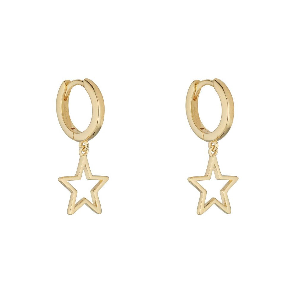 Loulerie Star Huggy Hoops | 9K Gold Plating