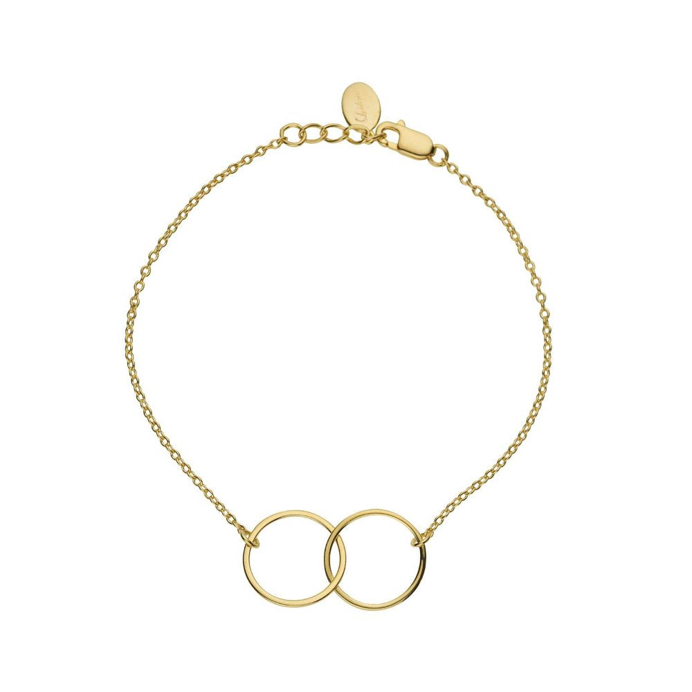 Loulerie Interlinking Circle Bracelet | 9k Gold Plating