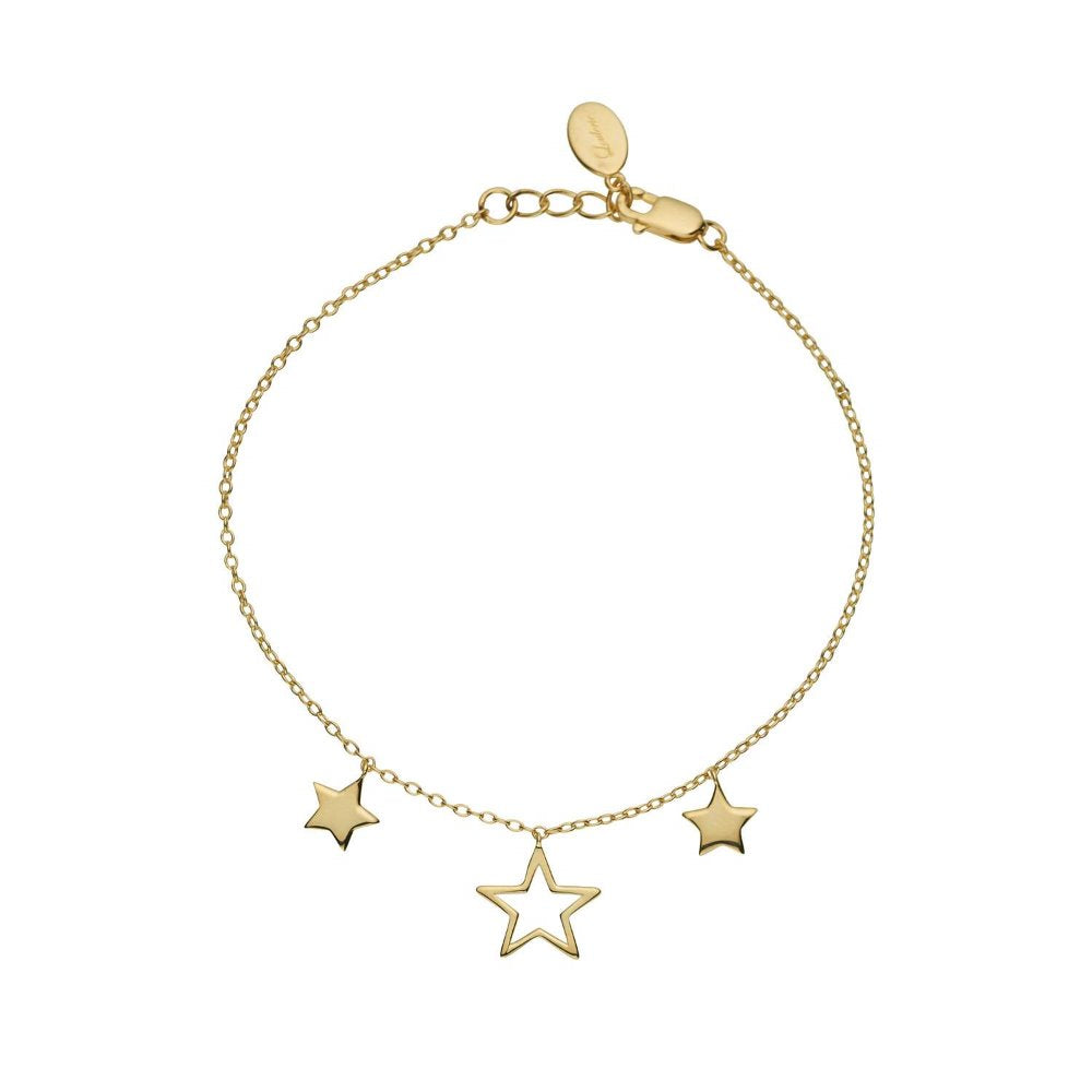 Loulerie Triple Star Bracelet | 9k Gold Plating