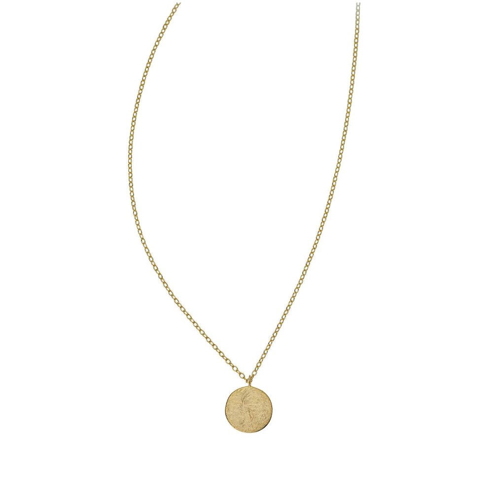 Loulerie Disc Necklace | 9K Gold Plate