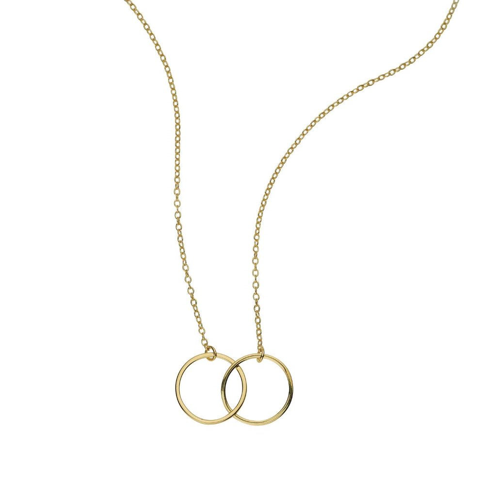 Loulerie Interlinking Circle Necklace | 9k Gold Plating