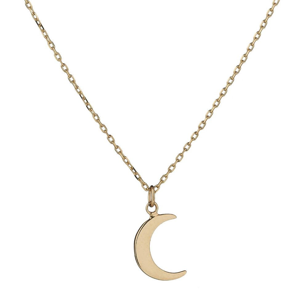 Loulerie 14K Yellow Gold Moon Necklace