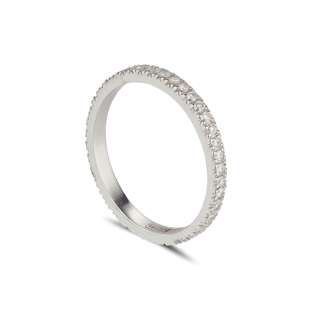 LOULERIE WG WHITE DIAMOND FULL  ETERNITY RING