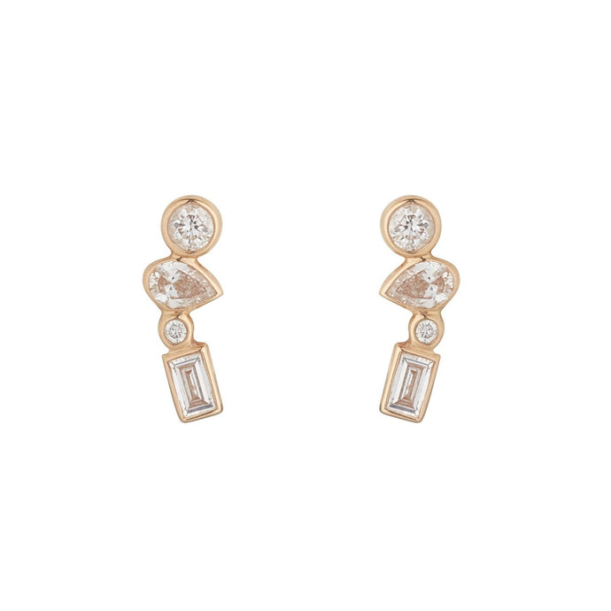 LOULERIE MIXED DIAMOND STUDS
