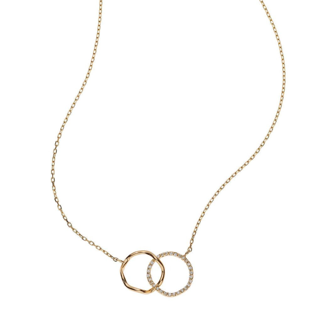 Loulerie Diamond Wave Gold Necklace | 14K Yellow Gold