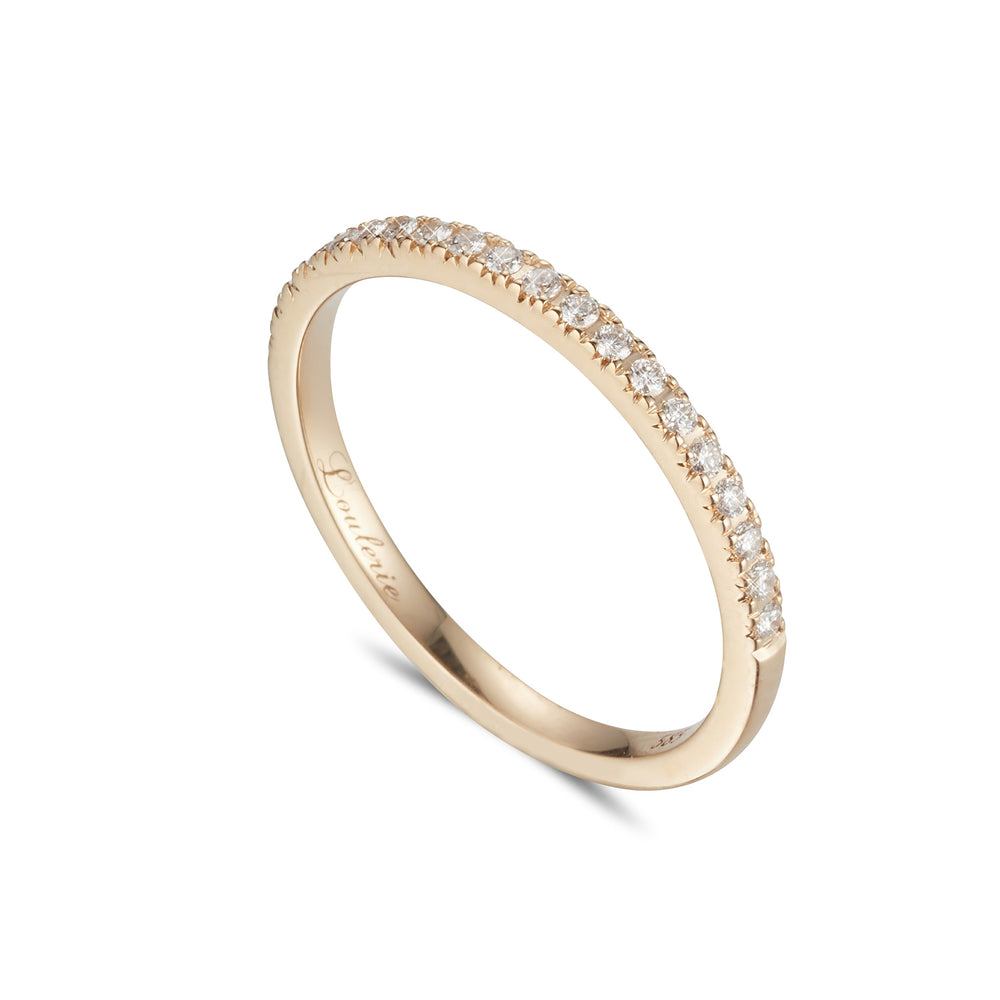 LOULERIE YG WHITE DIAMOND HALF ETERNITY RING