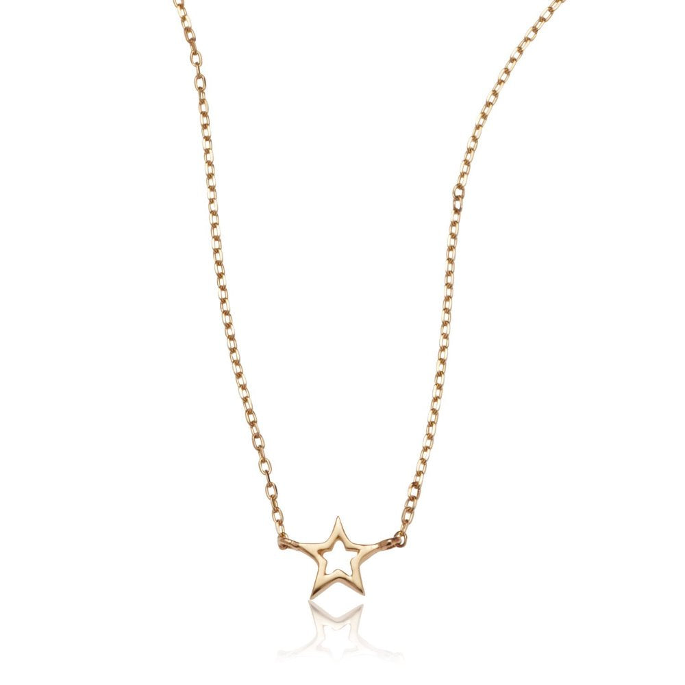 Loulerie 14K Yellow Gold Single Star Gold Necklace