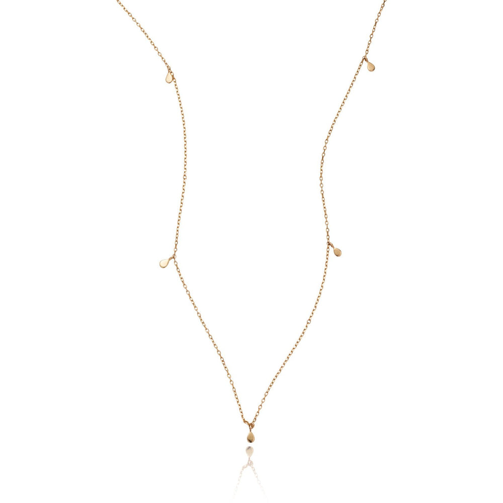LOULERIE MULTIPLE TEARDROP GOLD NECKLACE