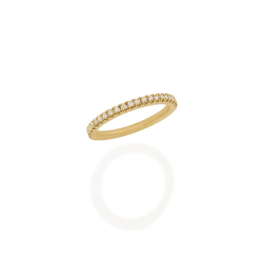 Loulerie Half White Diamond Band | Ring | 18K Gold