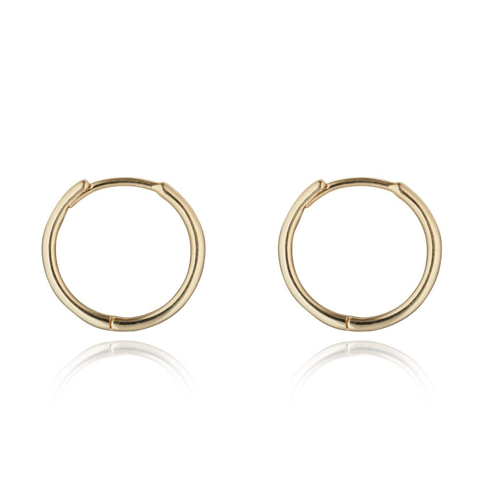 Loulerie 10mm 14k Gold Huggy Hoop Earrings