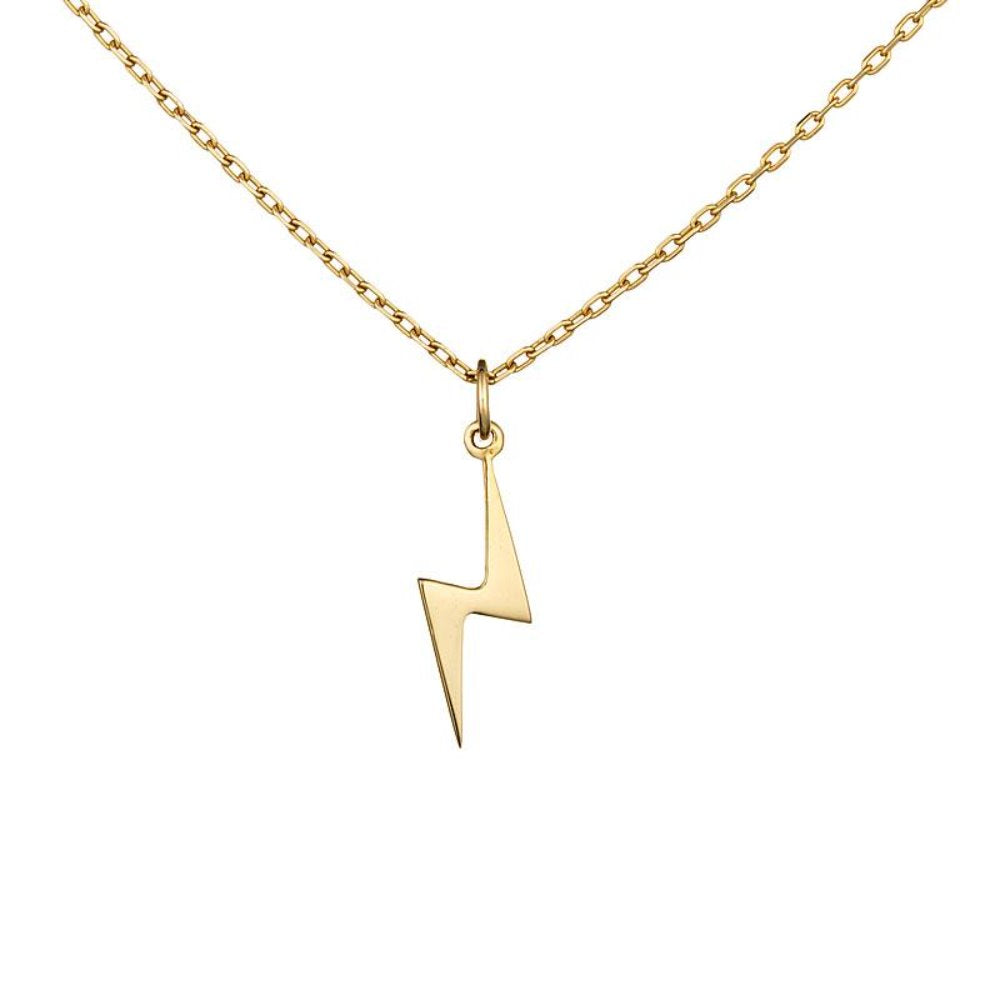 Loulerie 14K Yellow Gold Lightning Bolt Necklace