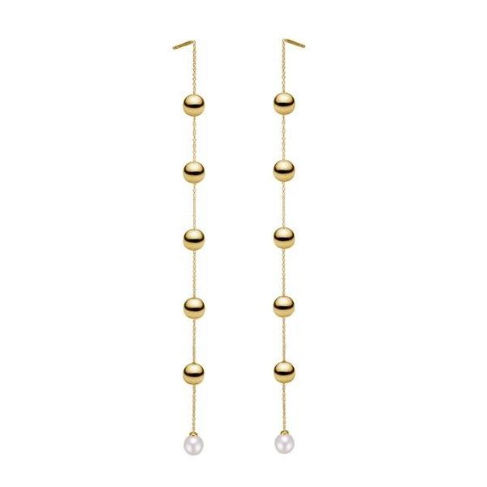 Charlotte Lebeck Lula Earrings | 925 Sterling Silver | 18K Gold Plate | Freshwater Pearls