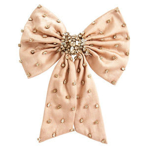 MIGNONNE GAVIGAN NEUTRAL GRACE CRYSTAL BOW HAIRCLIP
