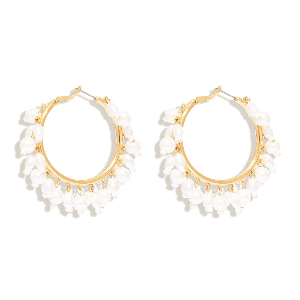 MIGNONNE GAVIGAN CELESTE HOOP EARRINGS