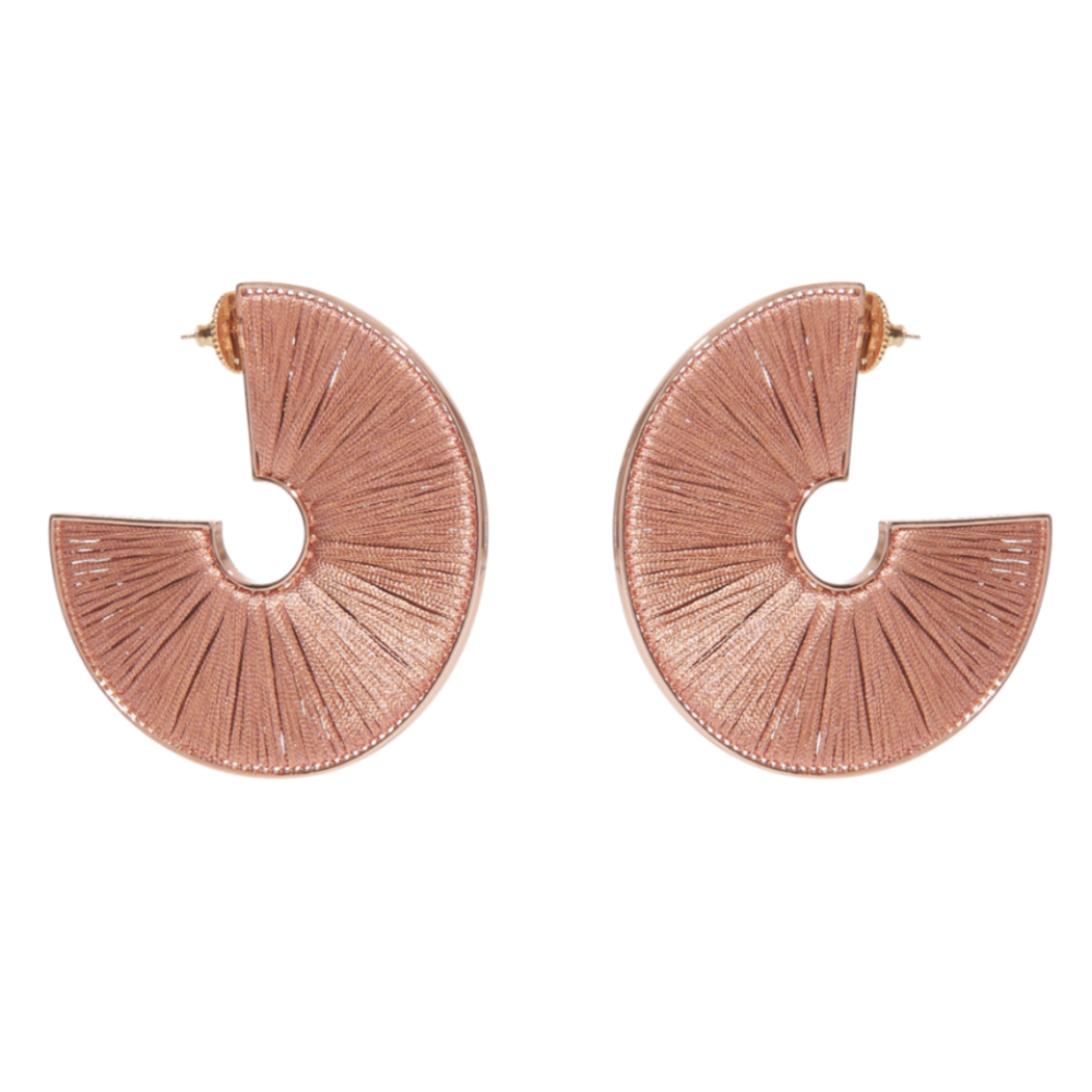 Mignonne Gavigan Rose Gold Mega Fiona Hoop Earrings
