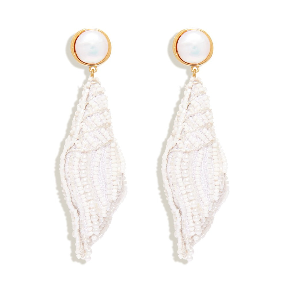 MIGNONNE GAVIGAN NELL SEASHELL DROP EARRING