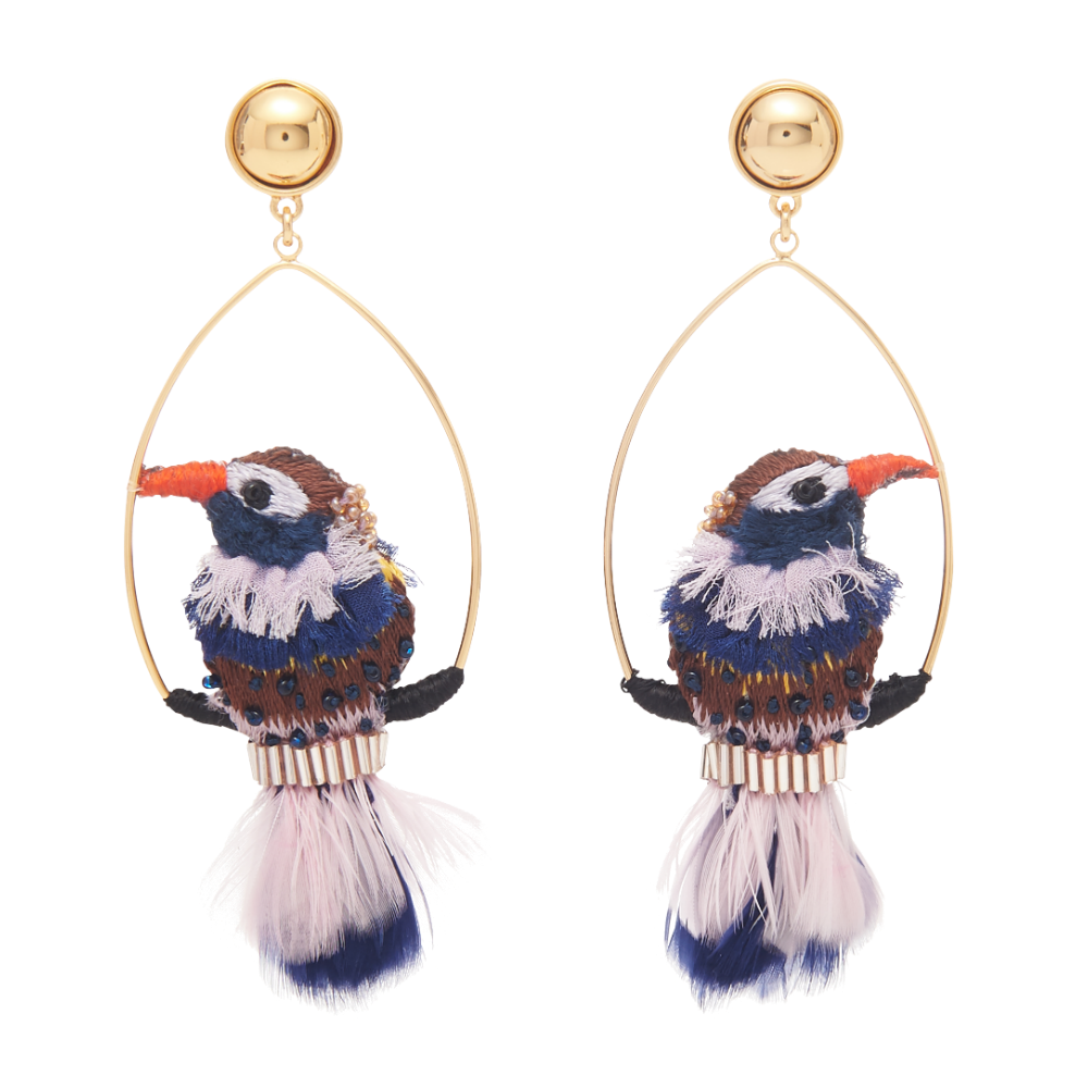 MIGNONNE GAVIGAN WOODPECKER SWING EARRING