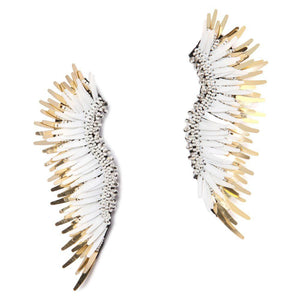 MIGNONNE GAVIGAN WHITE & GOLD MADELINE EARRINGS