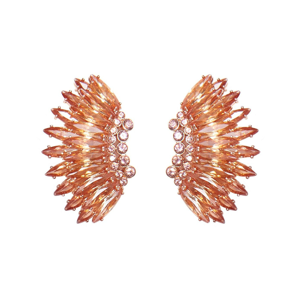 Mignonne Gavigan Crystal Mini Madeline Earrings | Crystal | Rose Gold