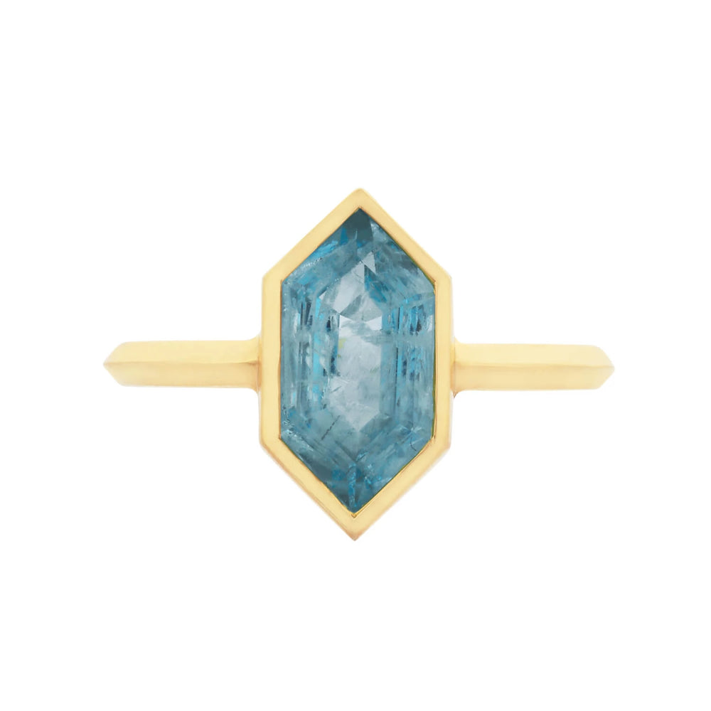 Zoe and Morgan 18k Gold Misti Aquamarine Ring