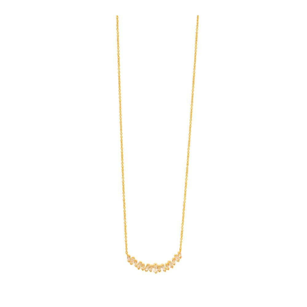 Gorjana Amara 18k Gold Plated Necklace with Cubic Zirconia at Loulerie