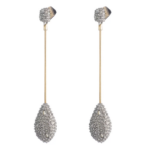 ALEXIS BITTAR PAVE TEARDROP EARRINGS