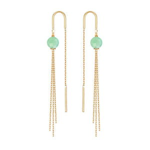 PERLE DE LUNE CHRYSOPRAISE MEDUSA EARRINGS