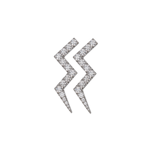 ROSIE FORTESCUE SILVER HEARTBEAT EARRING