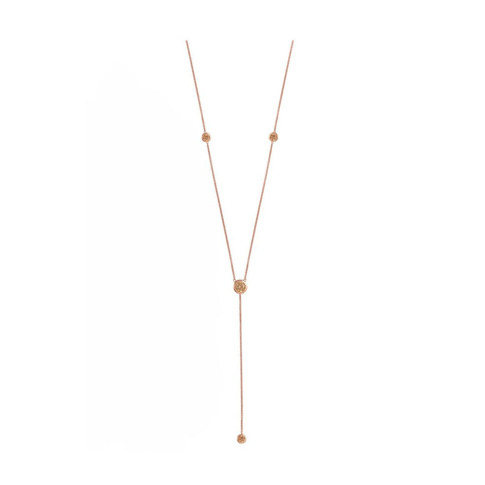 ROSIE FORTESCUE ROSE GOLD DEEP V NECKLACE