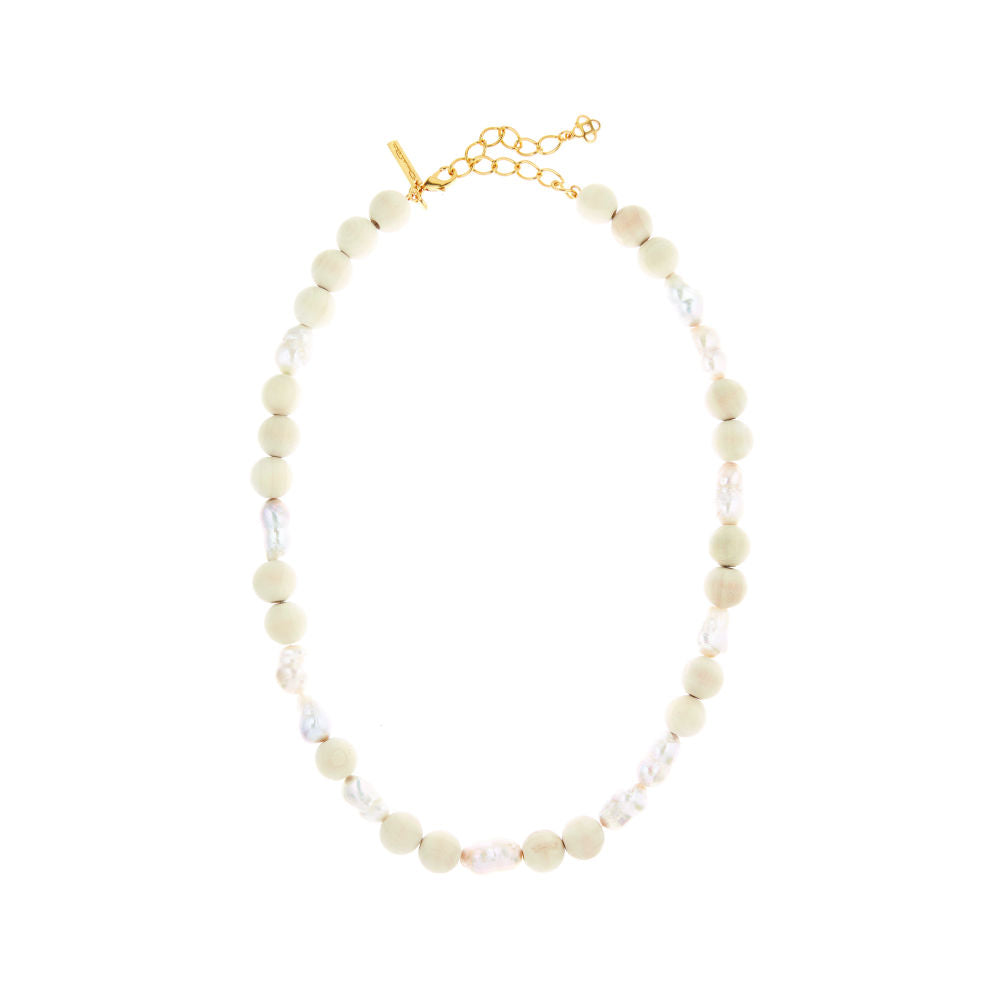 OSCAR DE LA RENTA BEADED PEARL NECKLACE