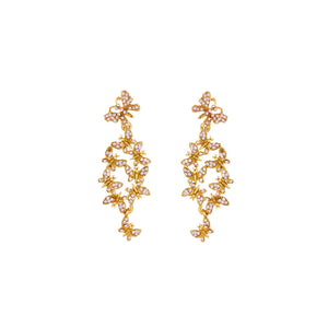 OSCAR DE LA RENTA BUTTERFLY CLUSTER EARRINGS
