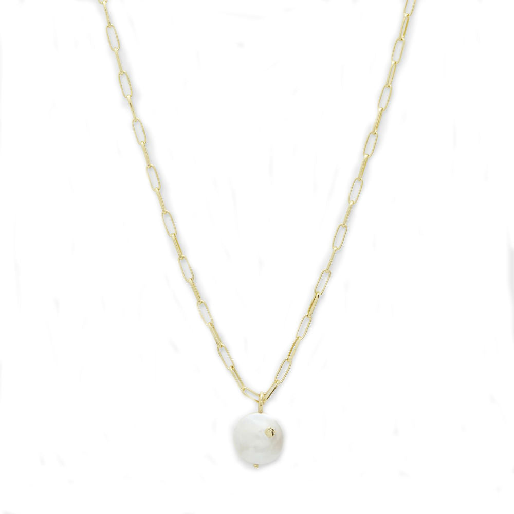 Gorjana Reese Pearl Necklace | 18K Gold Plate